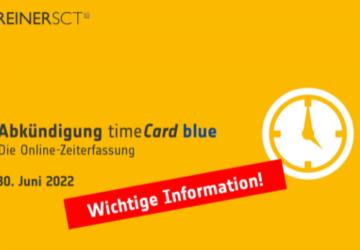 Abkündigung TimeCard blue